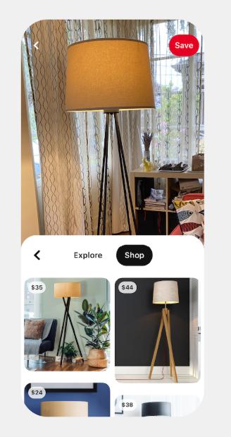 PinterestのLens機能