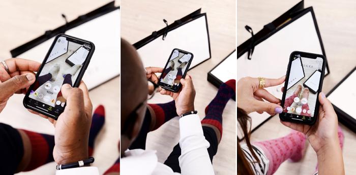 Gucci(グッチ)がSnapchatと提携してスニーカーの試着ARを発表